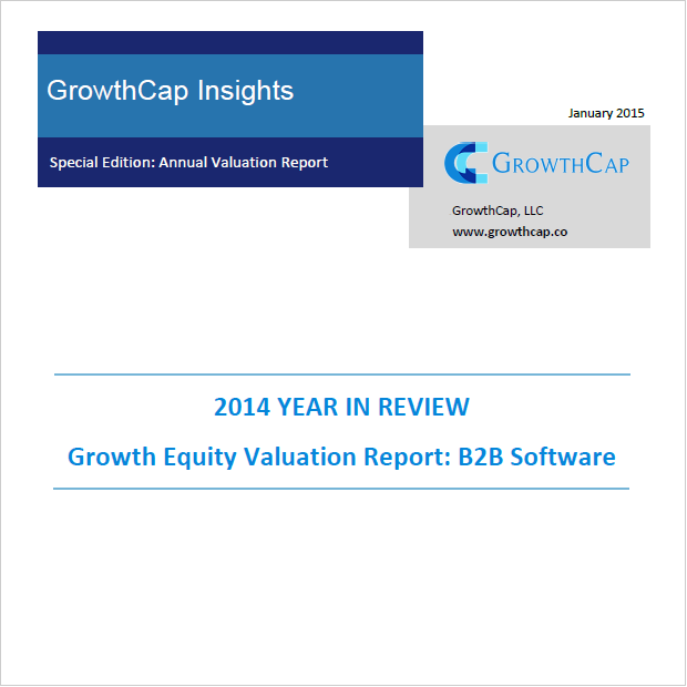 GrowthCap's Growth Equity Valuation Report: B2B Software